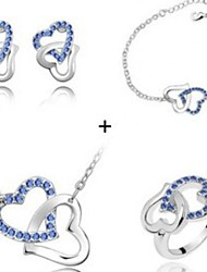 Necklace And Earring And Bracelet And Ring  Suits  Women Cute/Party/Casual Alloy/Crystal Other)