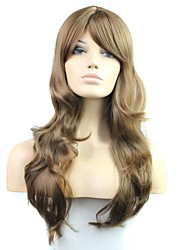 26 Inch Long Blown 100% 180 Degree High Temperature Fiber Synthetic Female Elegant Fashion Celebrity Wave Wig
