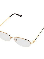 [Free Lenses] Nikel Alloy Rectangle Half-Rim Classic Reading Eyeglasses