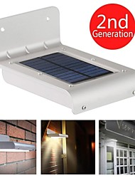 Solar Powered 16 LED Sensor Detector Outdoor Light Waterproof Garden Patio Path Wall Mount Fence Light Security Lamp