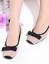 Women's Shoes Square Toe Flat Heel Suede Flats with Bowknot  Shoes More Colors available