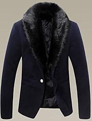 la marée d'hiver des hommes épaissie, plus la fourrure de laine cachemire col de la veste