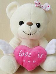 amor unisex asas de anjo colorido ursinho de brinquedo de pelúcia