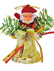Santa Claus Ringing Bell Pendant Christmas Tree Ornament