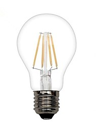 ON E26/E27 3.5 W 4 COB 380 LM Warm White A Decorative LED Filament Lamps AC 110-130 V