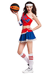 Cheerleader Costumes Performance Women's Sexy Silk Dance Outfit-Including Hand Flowers And Socks(More Colors)