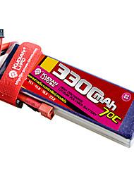 Kudian RC Battery 70C 3300mAh T Plug 2S