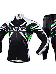 FJQXZ® Cycling Jersey with Tights Men's Long Sleeve Bike Breathable / Quick Dry / Ultraviolet ResistantTights / Jersey / Clothing