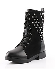Girls' Shoes Fashion Boots Flat Heel Mid-Calf Boots with Rivet More Colors available