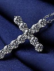 Европейский стиль стерлингового серебра 925 инкрустированные драгоценными камнями распределение кулон 45см ожерелье стерлингового серебра женской моды