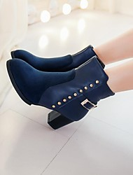 zapatos de las mujeres del dedo del pie redondo botines tacón grueso más colores disponibles