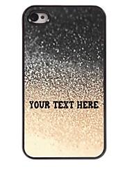 caja del teléfono personalizado - gota del caso del diseño de metal de agua para el iphone 4 / 4s