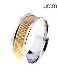 Anéis Jóias Aço Inoxidável Masculino Anéis Grossos9 / 8½ / 9½ Dourado / Prateado