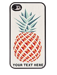 Personalized Phone Case - Pineapple Design Metal Case for iPhone 4/4S