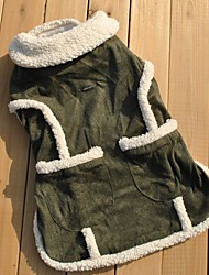 Cat / Dog Coat Green Winter Classic Wedding / Cosplay