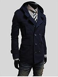 Super Hot Men's Casual Stand Long Sleeve Coats & Jackets (Cotton Blend)