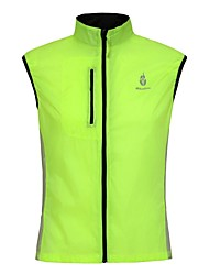 WOLFBIKE Cycling Vest Unisex Bike Vest/Gilet Jacket TopsQuick Dry Windproof Front Zipper Breathable Lightweight Materials Reflective