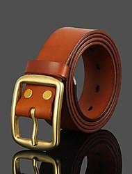 Men Wide Belt , Vintage/Cute/Party/Work/Casual Brass/Leather