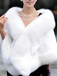 Fur Coats Imitation Fur Big Shawl Cloak