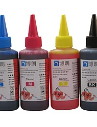 BLOOM® Dye Ink 100ML Compatible Refill Ink For Canon All Inkjet Printer (4 color 1 lot)