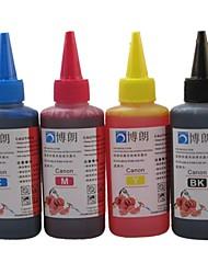 Cartouche d'encre Bloom® 100ML Recharge Compatible pour toute imprimante à jet d'encre Canon (4 couleurs par lot)