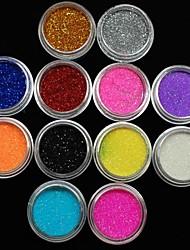 12st kleuren glitter poeder nail art decoratie