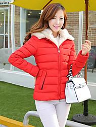 moda simplicidade faux fur colarinho ts das mulheres casaco emagrecer