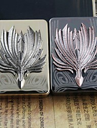 Personalized  Gift Metal Feather Folding Fan Pattern Electronic Lighter