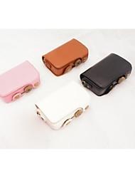 dengpin retrò cuoio dell'unità di elaborazione caso fotocamera staccabile della copertura borsa con tracolla per Casio EXILIM zr50 ex zr50