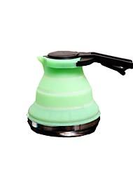 портативный 1.5l складной кремния чайник (зеленый)