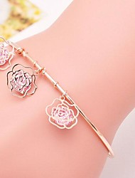 Fashion Alloy Rose Language Fashion Bracelets(More Colors)