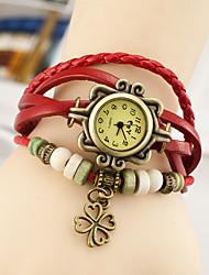 Wanbao женщин старинные лист кулон браслет часы