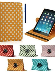 9.7 Inch 360 Degree Rotation Wave Point Pattern with Stand Case and Pen as Gift for iPad Air 2(Assorted Colors)