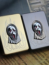 Personalized Engraving Skull Mask Pattern  Metal Electronic Lighter