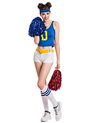 Cheerleader Costumes Performance Women's Sexy Polyester Dance Outfit-Including Hand Flowers And Socks