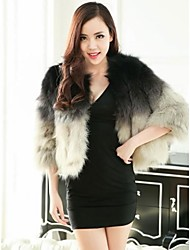 Fur Jackets Women's Gradient Color Fox Short Fur Jacket