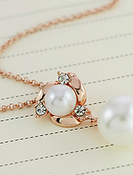 SNA Women's Fashion Lady Pearl All-matched Earrings Necklace Set