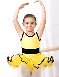 Kids' Dancewear Dresses Children's Spandex / Tulle Ballet / Performance Short Sleeve