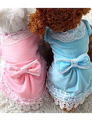 Kleider für Hunde Blau / Rosa Winter S / M / L / XL Fasergemisch / Baumwolle