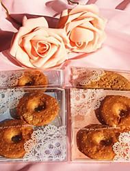 50pcs auto encaje de galletas dulces de panadería adhesivo bolsa de plástico de regalo caja de galletas