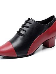 sapatos de salto prática da mulher de salto robusto com sapatos lace-ups de dança (mais cores)