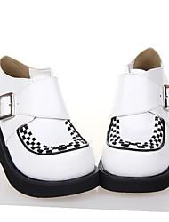 blanco pu 6cm de cuero zapatos del lolita punky plataforma