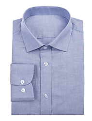 Blue Cotton Solid Shirt
