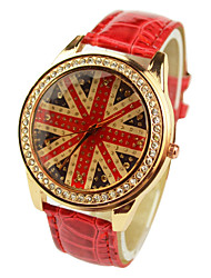 Women's Fashion Diamante Union Jack Watches(Assorted Colors)
