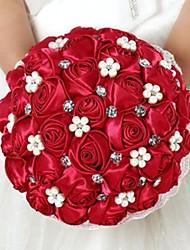 strass rouges bouquet de mariée