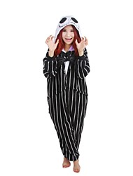 Jack Skeleton  Polar Fleece Kigurumi Pajamas Cosplay Costumes