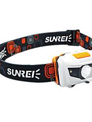 SUNREI Waterproof 4-Mode 1*Cree R3 and 2 White Light LED Headlamp(122LM,3*AAA,Orange)