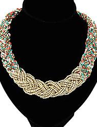 Miss Women's Fashion Temperament Elegance Statement Beaded Necklace