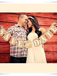 décoration de mariage vintage économies chics la bannière date d'étamine pour la photographie