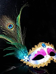 Women's Fashion Peacock Feathers Carnival Party Mask(Random Color)